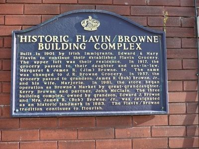 Historic Flaven/Browne Building Complex Marker image. Click for full size.