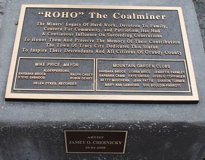 Roho The Coalminer Marker image. Click for full size.