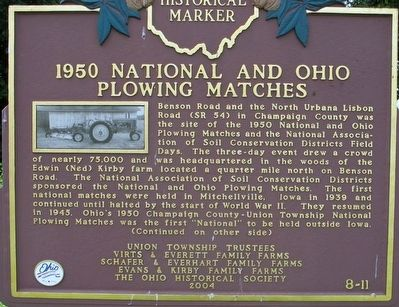1950 National and Ohio Plowing Matches Marker image. Click for full size.