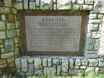 Roanoke Boulevard Marker image. Click for full size.