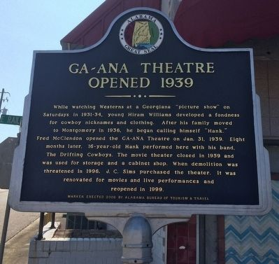 GA~ANA Theatre Marker image. Click for full size.