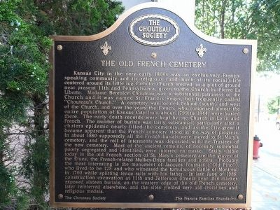 The Old French Cemetery Marker image. Click for full size.