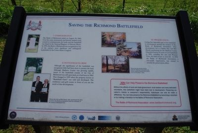 Saving the Richmond Battlefield Marker image. Click for full size.