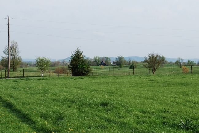 Confederate position at Pleasant View Farm as seen in distance image. Click for full size.