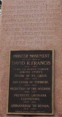 Pioneer Monument Marker image. Click for full size.