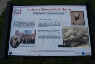 General Edmund Kirby Smith Marker image. Click for full size.