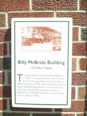 Billy McBride Building Marker image. Click for full size.