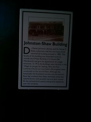 Johnston-Shaw Building Marker image. Click for full size.