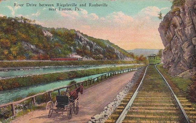 <i>River Drive between Riegelsville and Raubsville near Easton, Pa.</i> image. Click for full size.