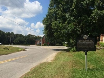 Marker area with Union Missionary Baptist Church in background. image. Click for full size.