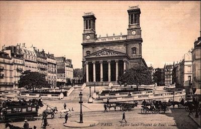<i>Paris - L&#39;Eglise de Saint-Vincent de Paul</i> (Click on picture to enlarge.) image. Click for full size.