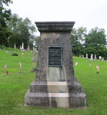 Maple Grove World War Memorial Marker image. Click for full size.