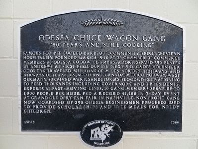 Odessa Chuck Wagon Gang Marker image. Click for full size.