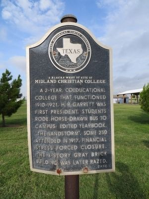 Midland Christian College Marker image. Click for full size.