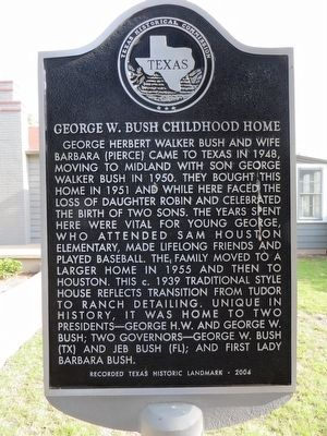 George W. Bush Childhood Home Marker image. Click for full size.