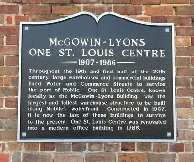 McGowin-Lyons Marker image. Click for full size.