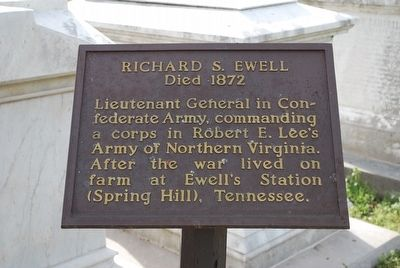 Richard S. Ewell Marker image. Click for full size.