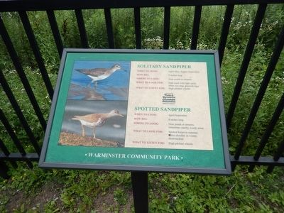 Warminster Community Park-Sandpiper Marker image. Click for full size.