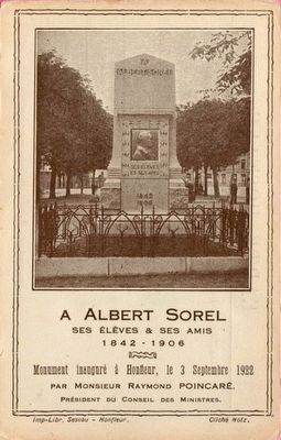 Albert Sorel Marker Card <i>(Click on picture to enlarge.)</i> image. Click for full size.