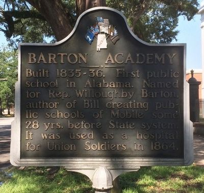Barton Academy Marker image. Click for full size.