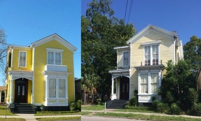 Bettie Hunter House circa 2008 & in July 2015. image. Click for full size.