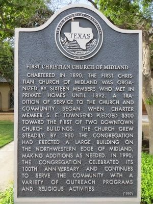 First Christian Church of Midland Marker image. Click for full size.