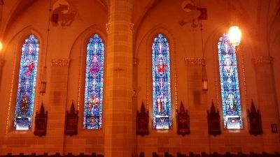 Saint Florian Church Stained Glass Windows image. Click for full size.