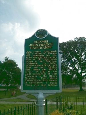 Colonel John Francis Hamtramck Marker image. Click for full size.