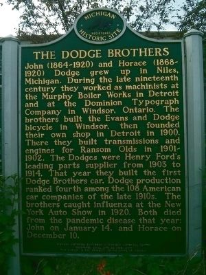 The Dodge Brothers / Dodge Main Marker image. Click for full size.