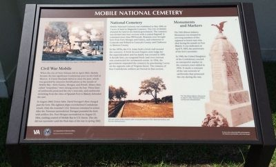 Magnolia National Cemetery interpretive marker. image. Click for full size.