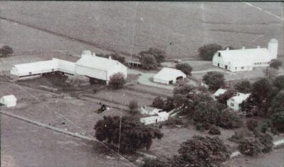 Aerial Photo of Linden Farm in the early 1900s. image. Click for full size.