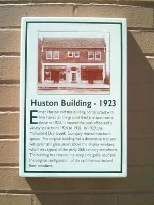 Huston Building Marker image. Click for full size.