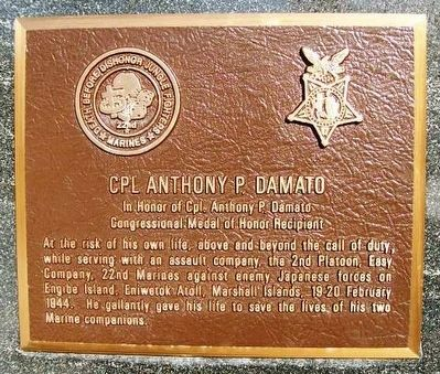 Cpl Anthony P. Damato Marker image. Click for full size.
