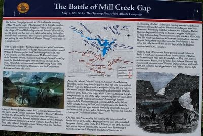 The Battle of Mill Creek Gap Marker image. Click for full size.