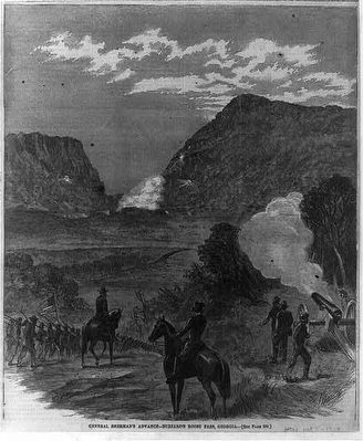 General Sherman's advance - Buzzard's Roost Pass, Georgia- Library of Congress image. Click for full size.