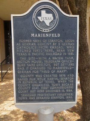 Marienfeld Marker image. Click for full size.