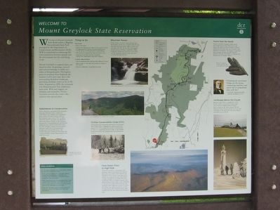 Welcome to Mount Greylock State Reservation Marker image. Click for full size.