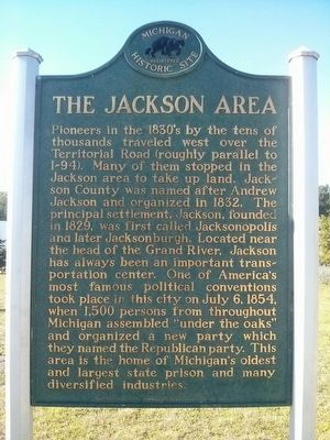 The Jackson Area Marker image. Click for full size.