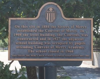 The Convent of Mercy Marker image. Click for full size.