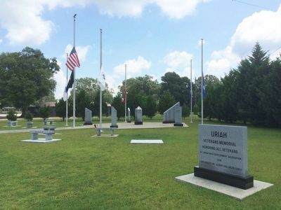 Uriah Veterans Memorial image. Click for full size.