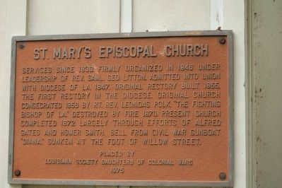 St. Mary's Episcopal Church Marker image. Click for full size.
