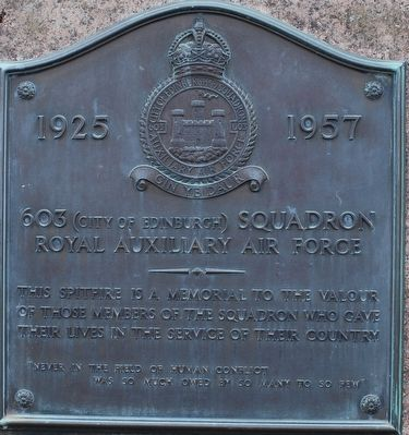 603 (City of Edinburgh) Squadron Marker image. Click for full size.