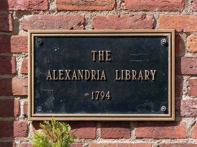 The Alexandria Library 1794 image. Click for full size.