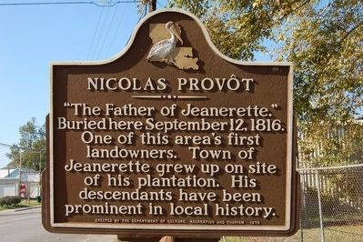 Nicholas Prov�t Marker image. Click for full size.
