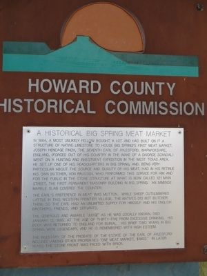 A Historical Big Spring Meat Market Marker image. Click for full size.