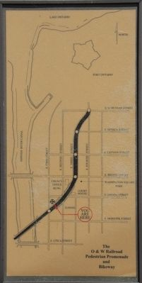 The O & W Railroad Pedestrian Promenade and Bikeway Marker image. Click for full size.