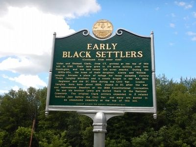 Early Black Settlers Marker image. Click for full size.