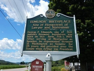 Edmunds' Birthplace Marker image. Click for full size.
