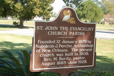 St. John The Evangelist Church Parish Marker image. Click for full size.