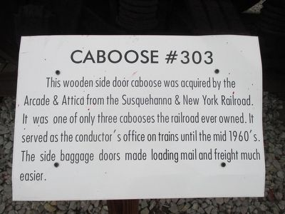 Caboose #303 Marker image. Click for full size.